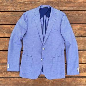 Hugo Boss Columbo Jacket 40 Blue Blazer Sport Coat
